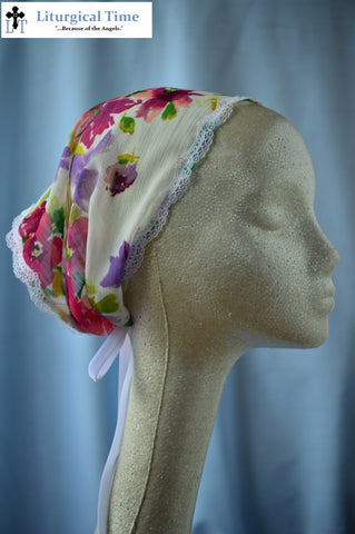 50% off Summer Sale Item ~ SCT Veil with Ties~  SMSL17