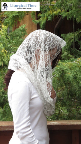 Infinity Veil EV2sg -- Eternity Veil Headcovering - The Infinity Chapel Veil Original, in Silver Grey