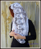 Infinity Veil  Eternity Veil Headcovering Infinity Scarf Mantilla Catholic Chapel Veil Christian Headcovering