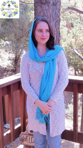SALE! Pashmina Style Wrap -  PSH1 - in Turquoise