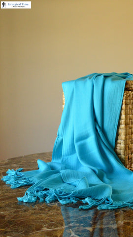 Pashmina Style Wrap -  PSH1 - in Turquoise