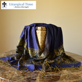 Headwrap Christian Headcovering Pashmina Wrap - PSH2royal ~ Viscose Shawl Religious Head Covering Church Scarf