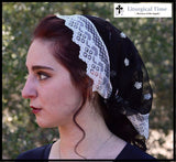 Catholic Veil Christian Headcovering- Headband Headscarf with Ties