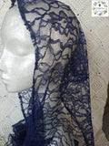 50% off Summer Sale Item ~  Rectangular headcovering in Midnight Blue ~ SMSL18006