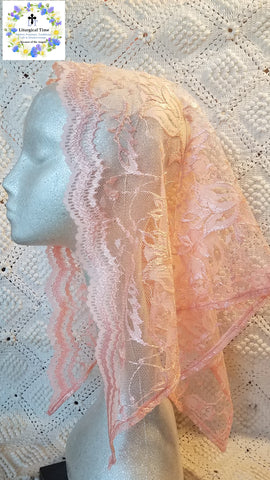 50% off Summer Sale Item ~  Triangular headcovering in Peach ~ SMSL18012
