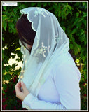 Catholic Chapel Veils EVM37 - Eternity Veil -The Infinity Veil Original, in Soft Embroidered Net