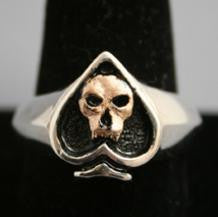Ace of Skulls ring|Automotive Jewelry