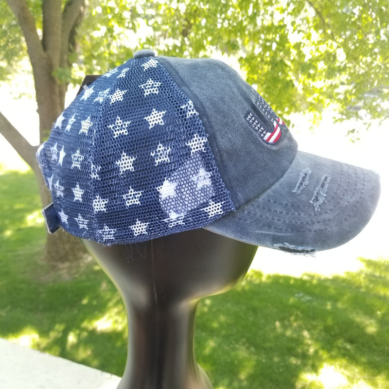 C.C. Women baseball cap, USA, stars on the sides and back