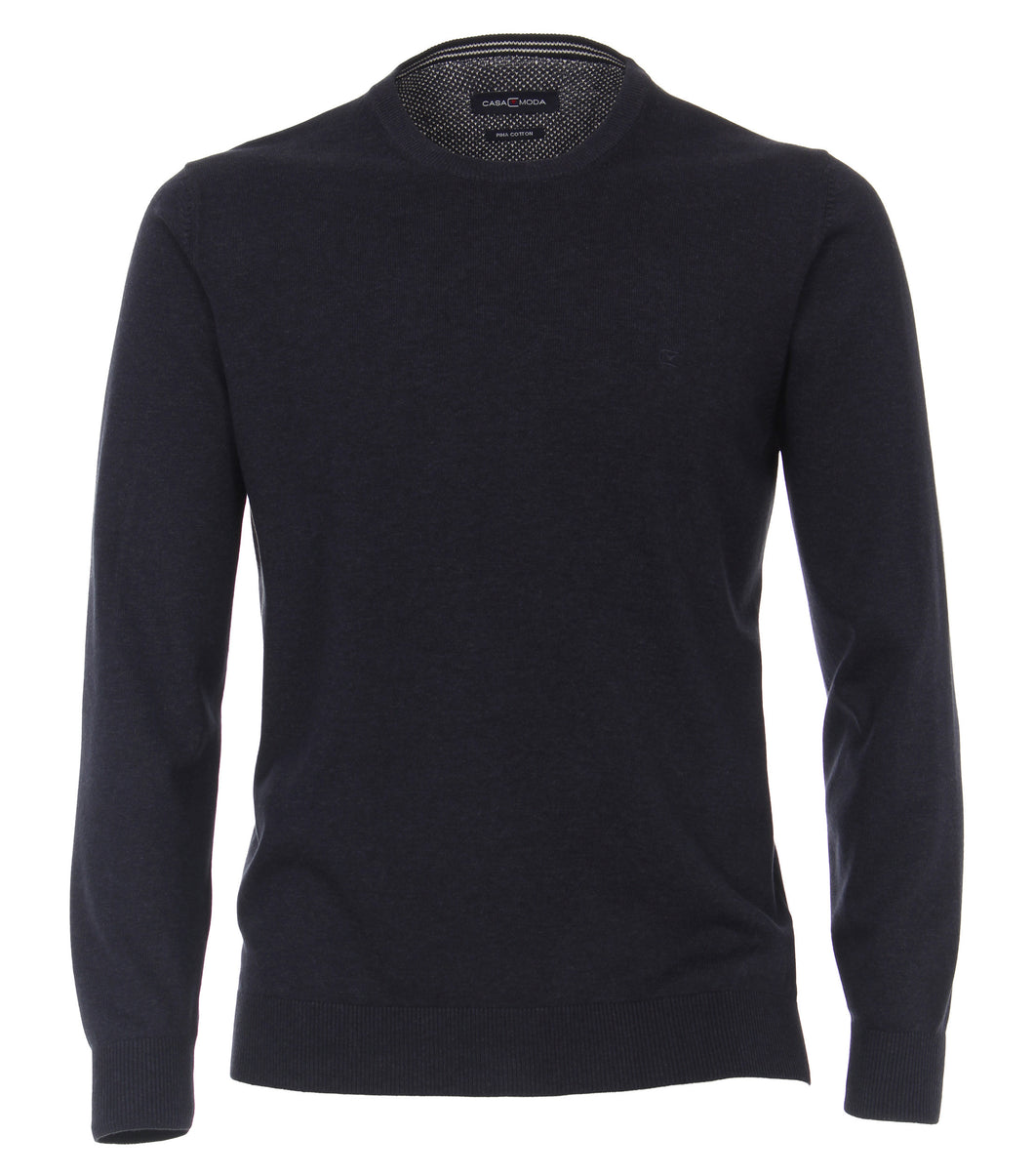 Casa Moda Navy Blue Sweater Crew Neck