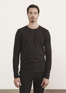 PATRICK ASSARAF Long Sleeve T-Shirt - Black