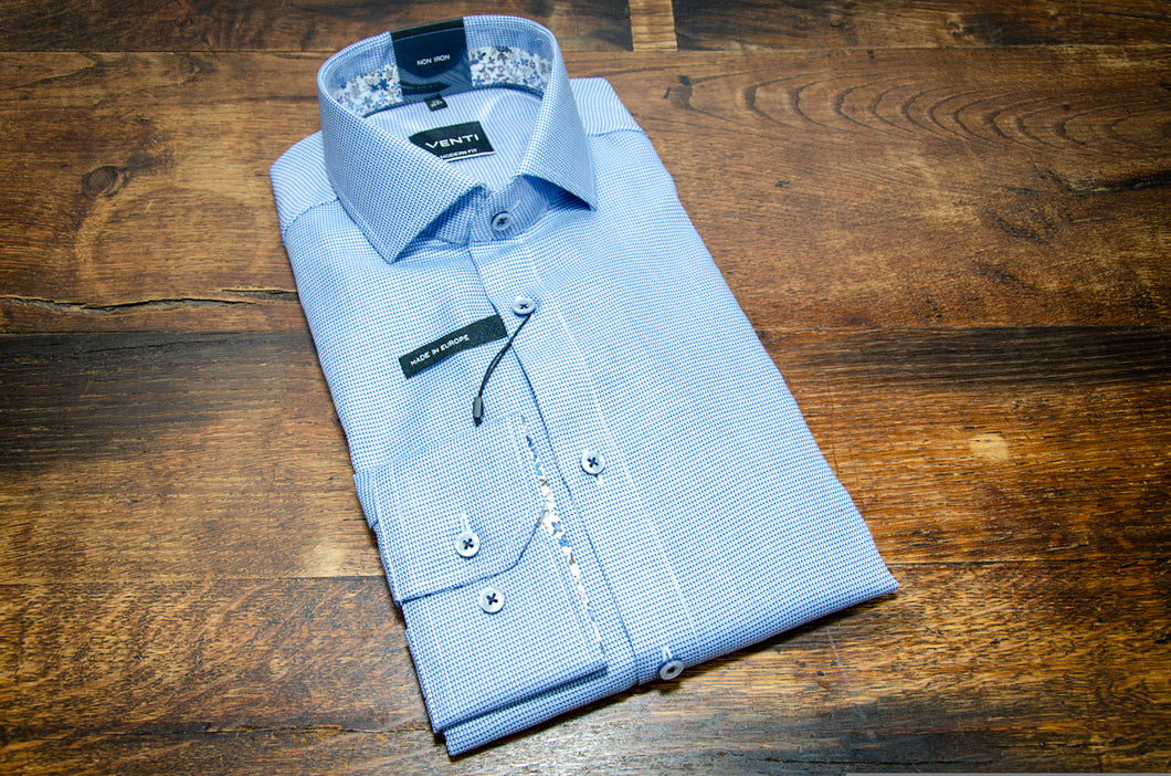 Venti Neat Blue Sports Shirt