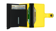Load image into Gallery viewer, Miniwallet Matte Black Yellow