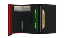 Load image into Gallery viewer, SECRID Slimwallet Matte Black/Red