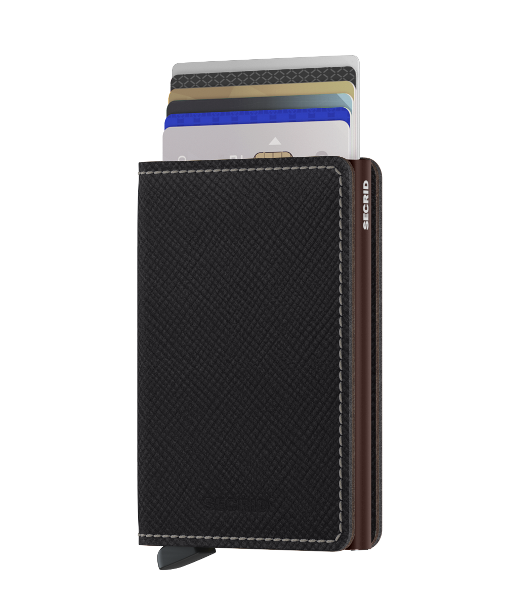 SECRID Slimwallet Saffiano Brown