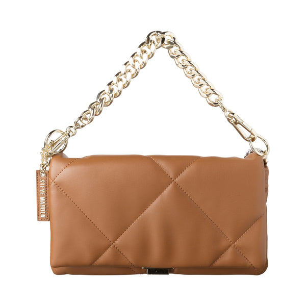 BCOBBLE CLUTCH COGNAC