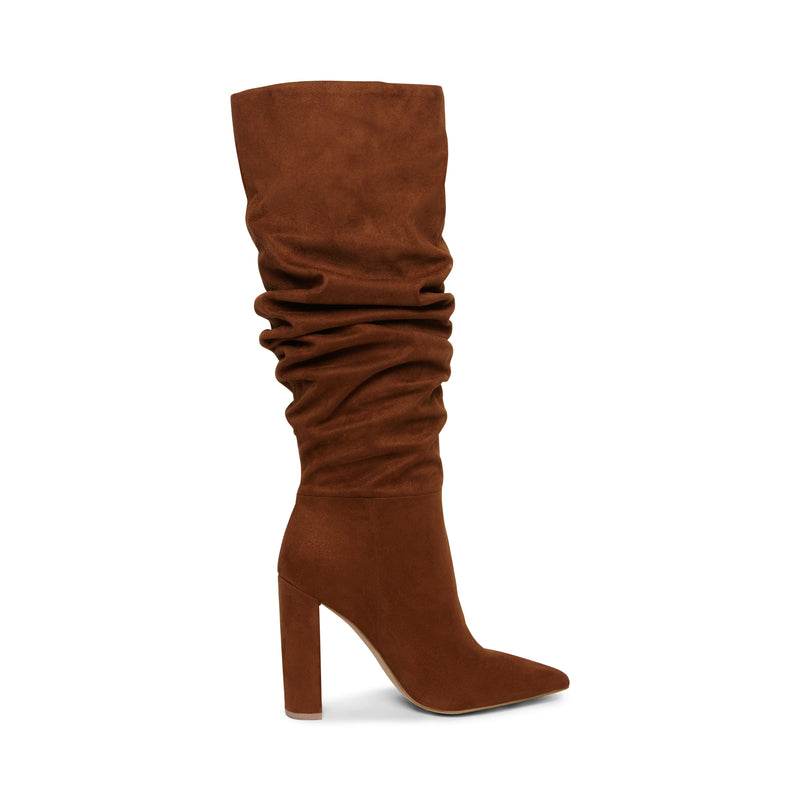 SLOUCH BOOT BROWN SUEDE