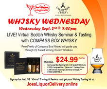 Load image into Gallery viewer, Compass Box Virtual Scotch Tasting Kit - Joe's Liquor & Delivery I Orlando's Premier Online Service | International Drive