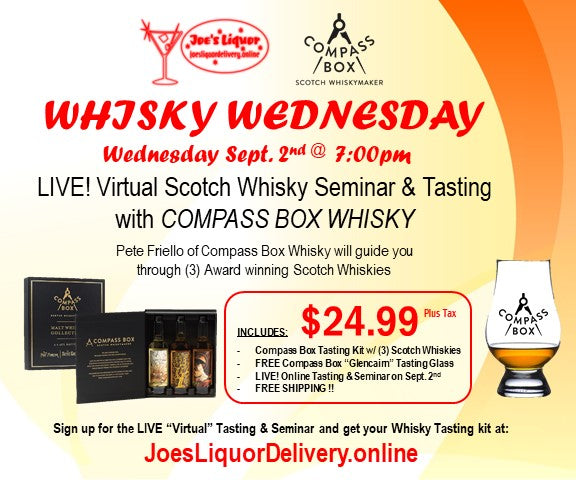Compass Box Virtual Scotch Tasting Kit - Joe's Liquor & Delivery I Orlando's Premier Online Service | International Drive