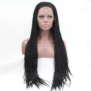 Lysa- Medium Box Braids Lace Front Wig