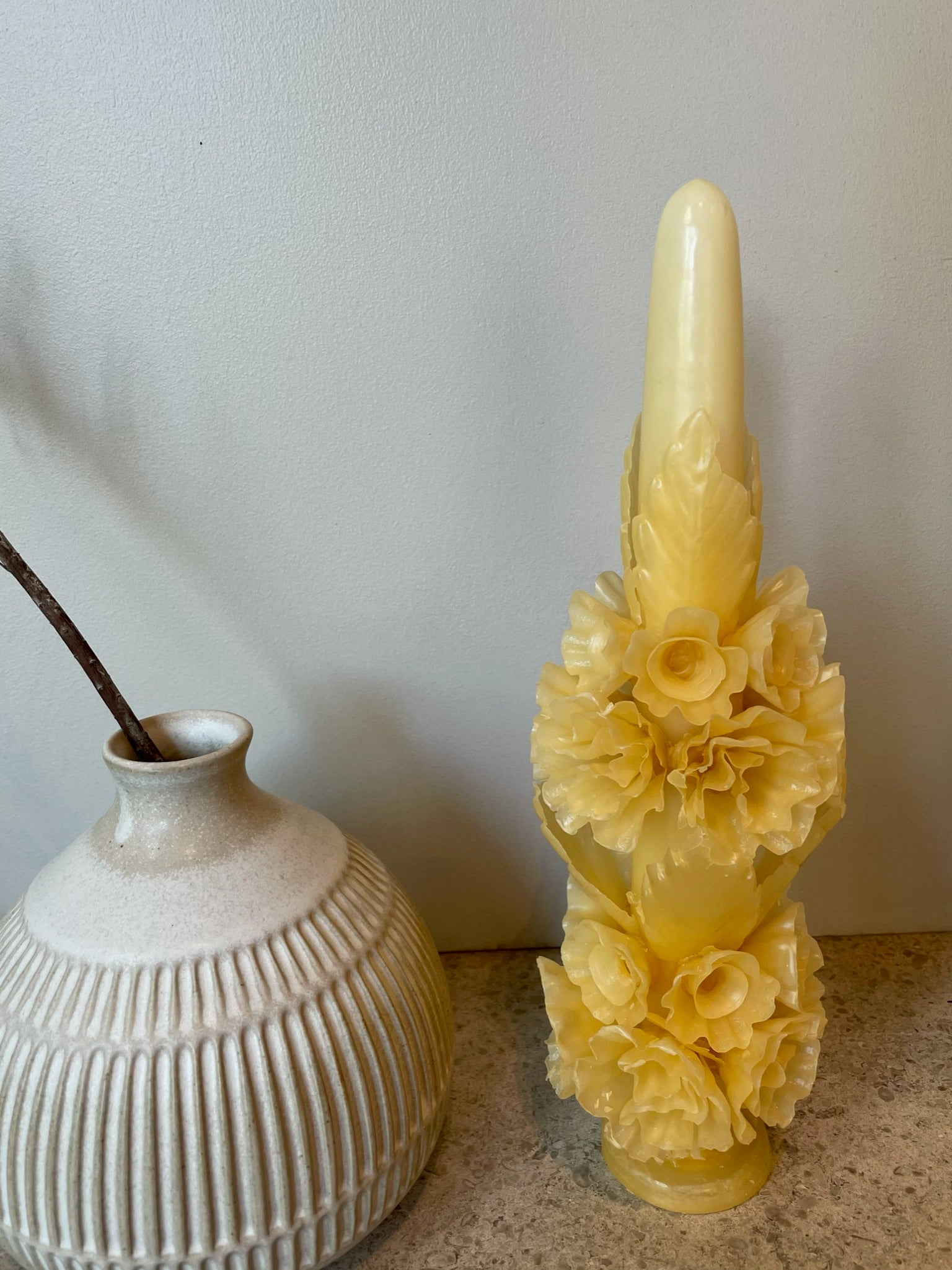 Large Bouquet Candle | Natural