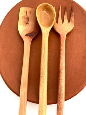 Open image in slideshow, Hand Carved Mango Wood Utensils