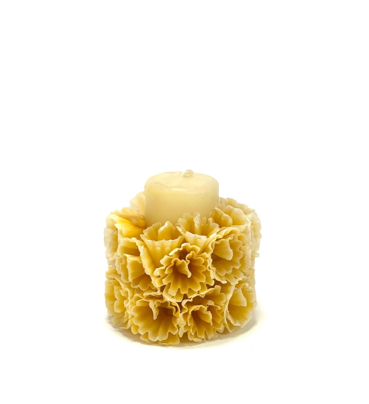 Small Bouquet Candle - Natural Beeswax