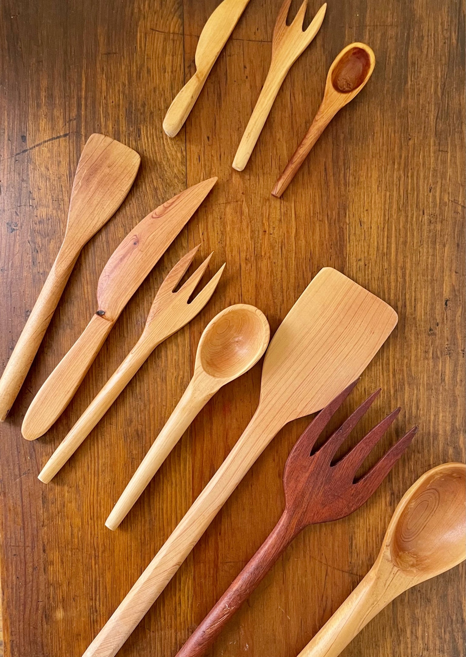 Hand Carved Mango Wood Utensils
