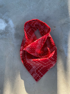 "Open image in slideshow, New 5"" Palermo Easy-On/Off Bandana Red"