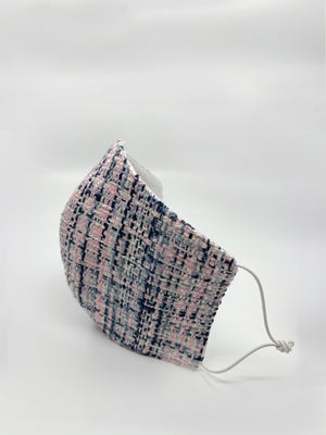 Open image in slideshow, Pink Wool Boucle/Cotton Mask