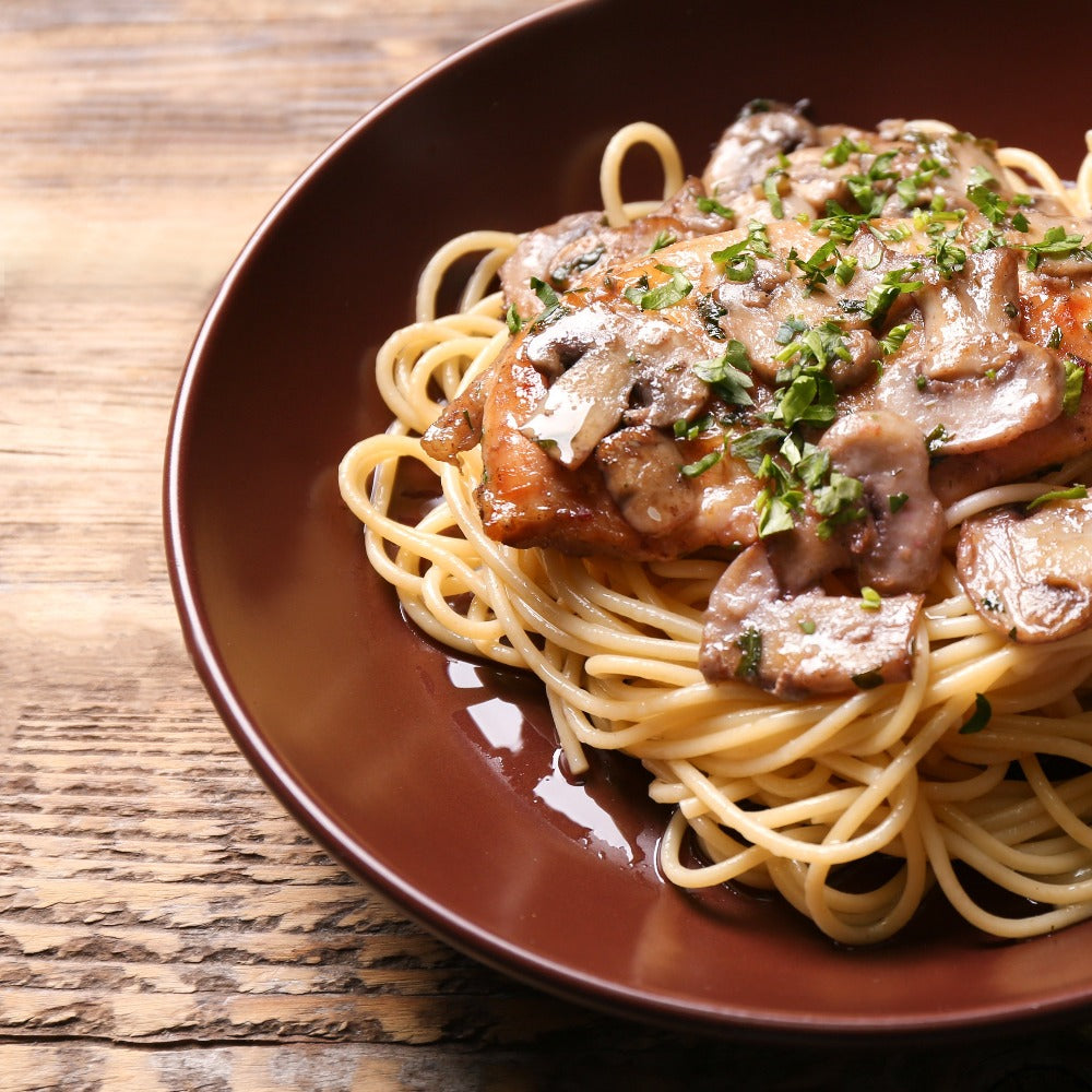 Thin Spaghetti Chicken Marsala