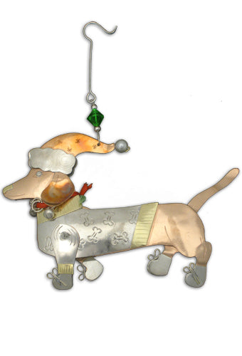 Dachshund Holiday Ornament 123