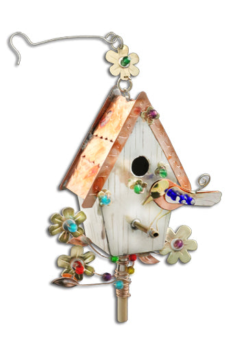 Birdhouse Ornament With Bluebird PI 104