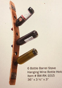 Wine Barrel Stave Wine Bottle Rack BW106