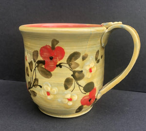 Yellow Coffee Cup With Red Flowers Don Swanson 115