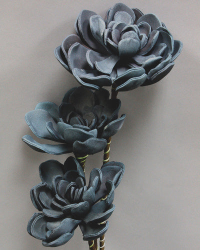 Blue Succulent Faux FLower 124