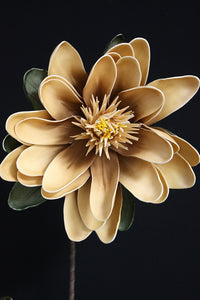 Yellow Beige Foam Flower 113