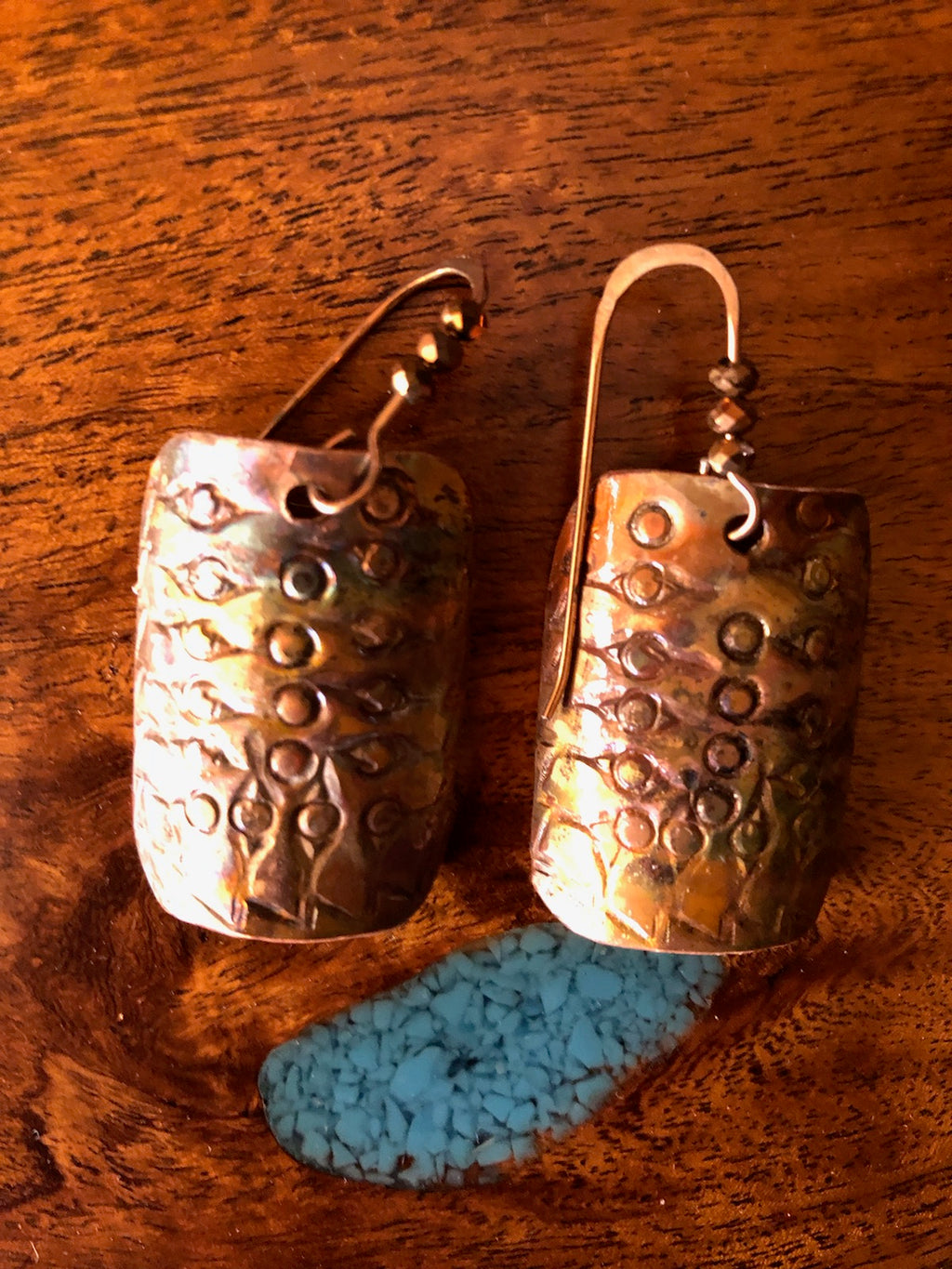 Copper Earrings Rounded Vicki Carstens 103