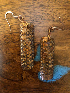 Rectangle Copper Earrings Vicki Carstens 101