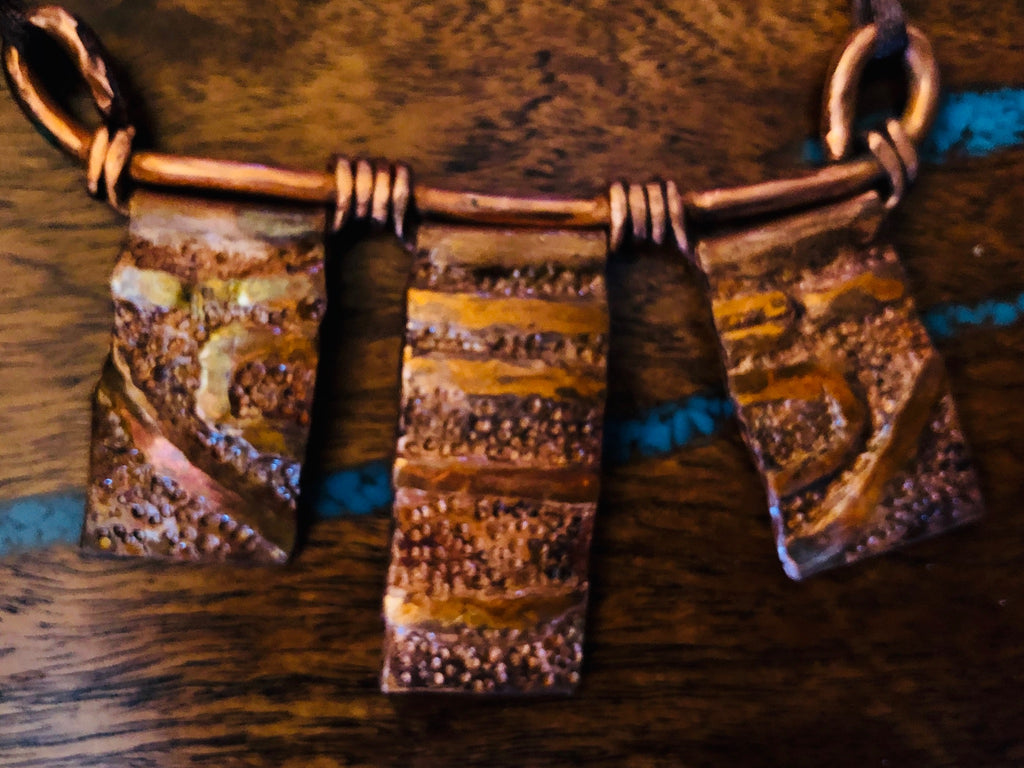 Triple Disk Copper Necklace Vicki Carstens 113