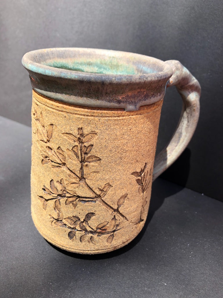 Light Turquoise & Natural Coffee Mug Judy Mohr 105