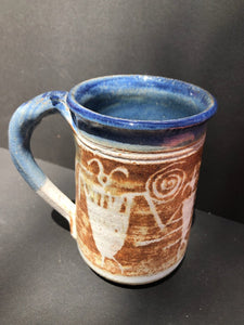 Blue & Natural Coffee Cup Judy Mohr 104