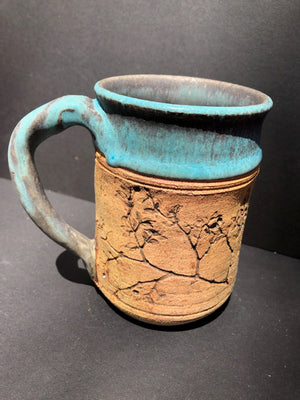 Turquoise & Natural Coffee Mug Judy Mohr 103