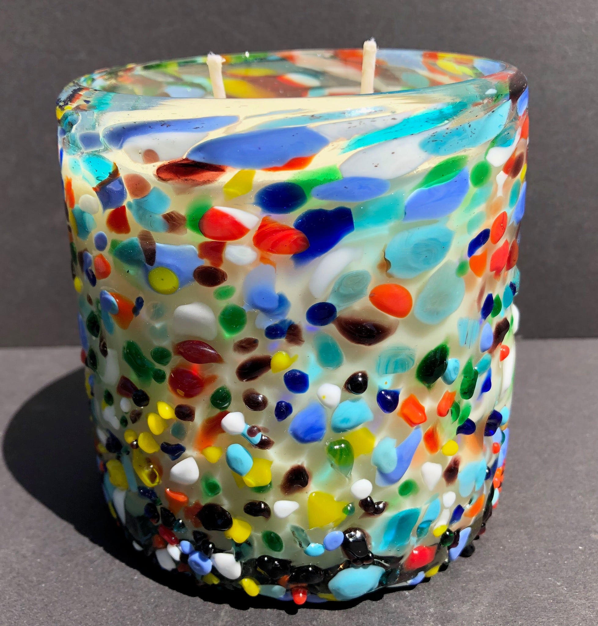 Multi Color Glass Soy Candle