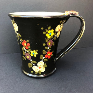 Black Coffee Cutp With Flowers Don Swanson 110