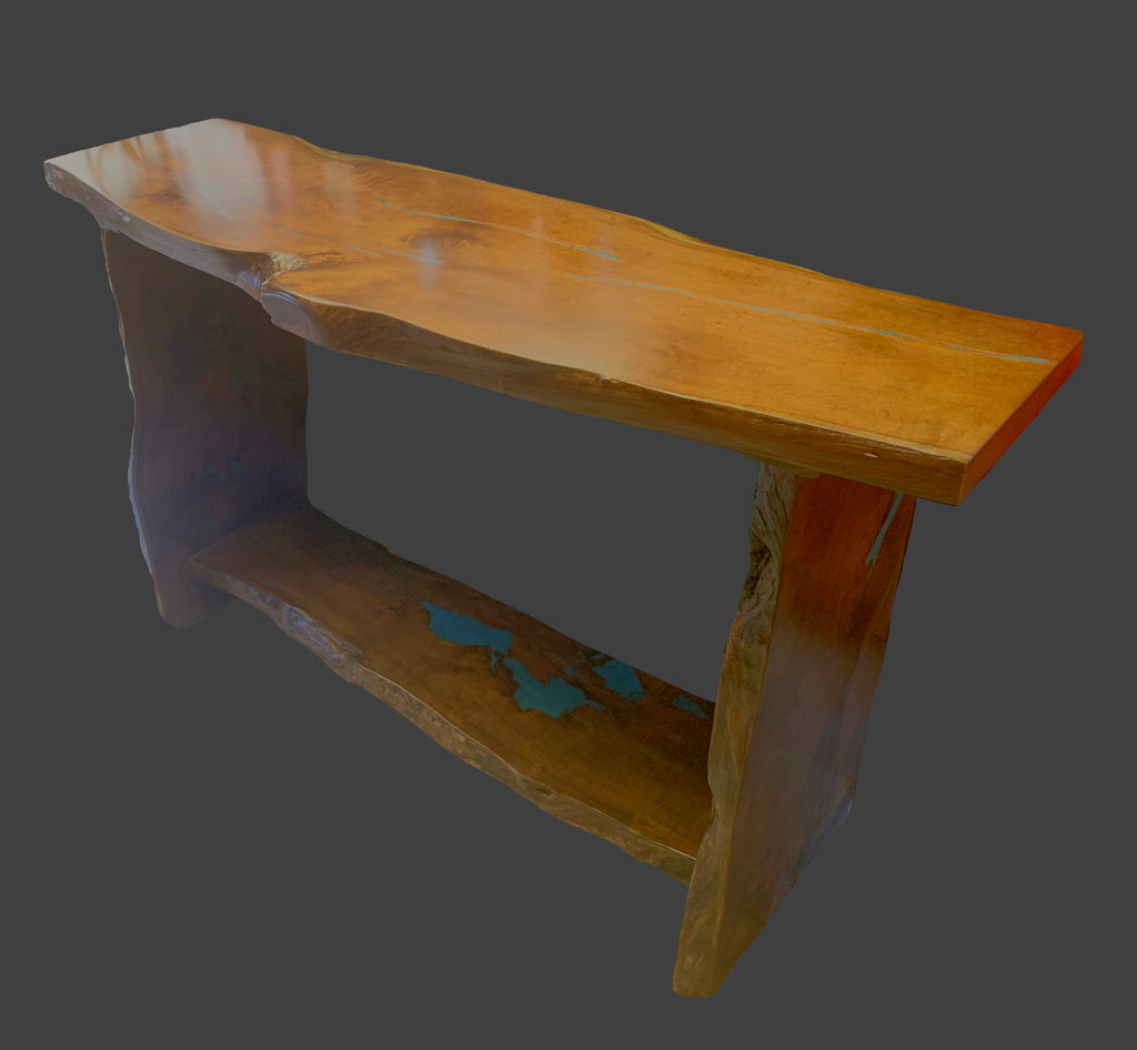 Mesquite With Turquoise Inlay Sofa Table 103