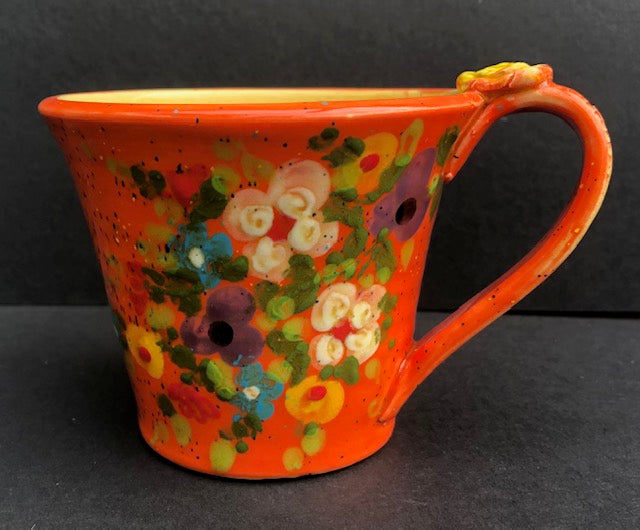 Orange Coffee With Flowers Don Swanson 118