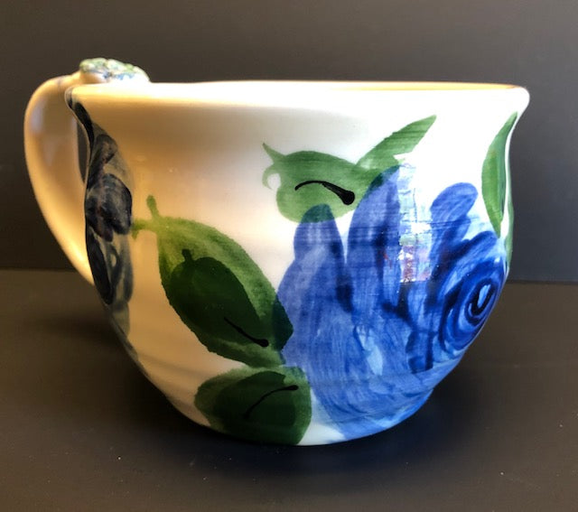 Coffee Cup White With Blue Flowers Don Swanson 141