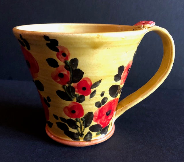 Yellow Cup With Red Poppies Don Swanson 126