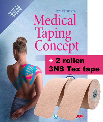 Medical Taping Concept Manual + 2 rollen 3NS Tex tape - Handletselshop