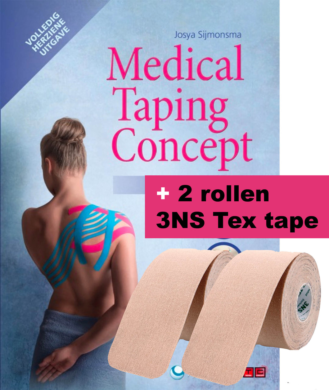 Medical Taping Concept Manual + 2 rollen 3NS Tex tape
